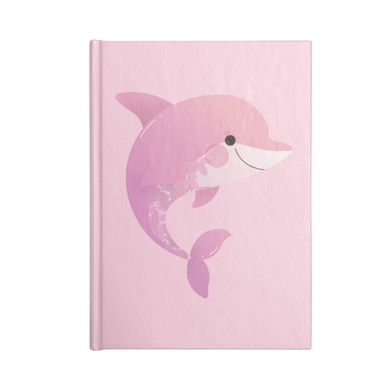 Dolphin Accessories Blank Journal Notebook by theladyernestember's Artist Shop