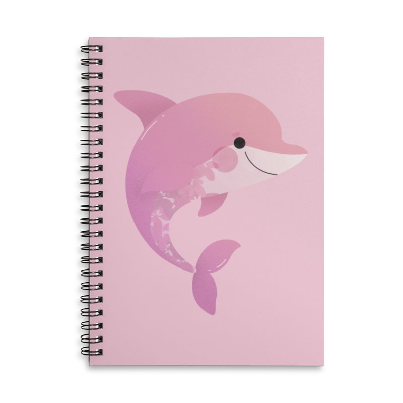 Dolphin Accessories Lined Spiral Notebook by theladyernestember's Artist Shop