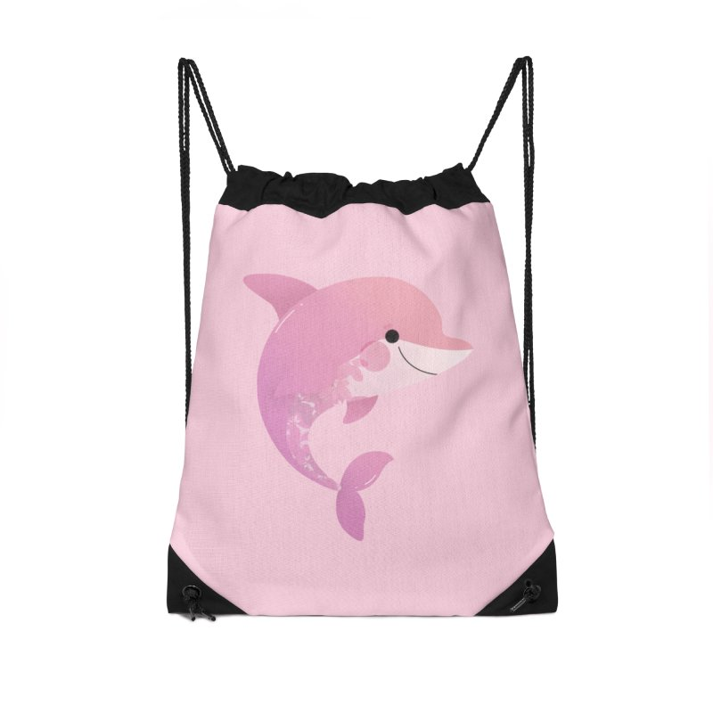 Dolphin Accessories Drawstring Bag Bag by theladyernestember's Artist Shop