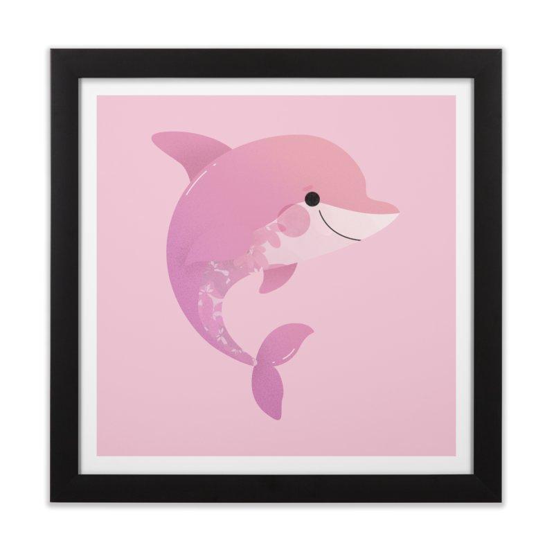 Dolphin Home Framed Fine Art Print by theladyernestember's Artist Shop