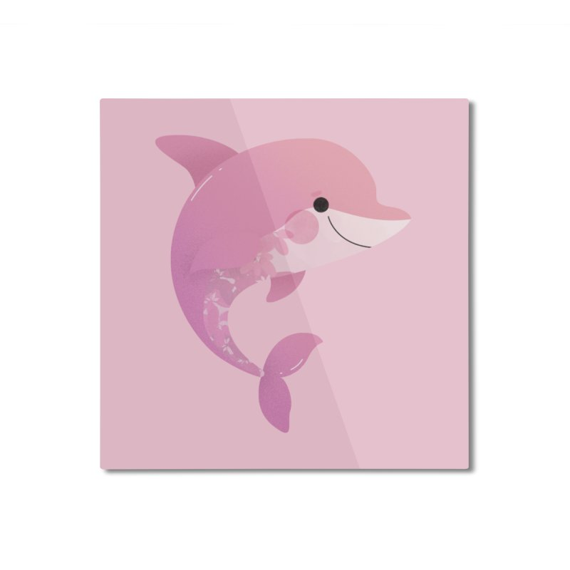 Dolphin Home Mounted Aluminum Print by theladyernestember's Artist Shop