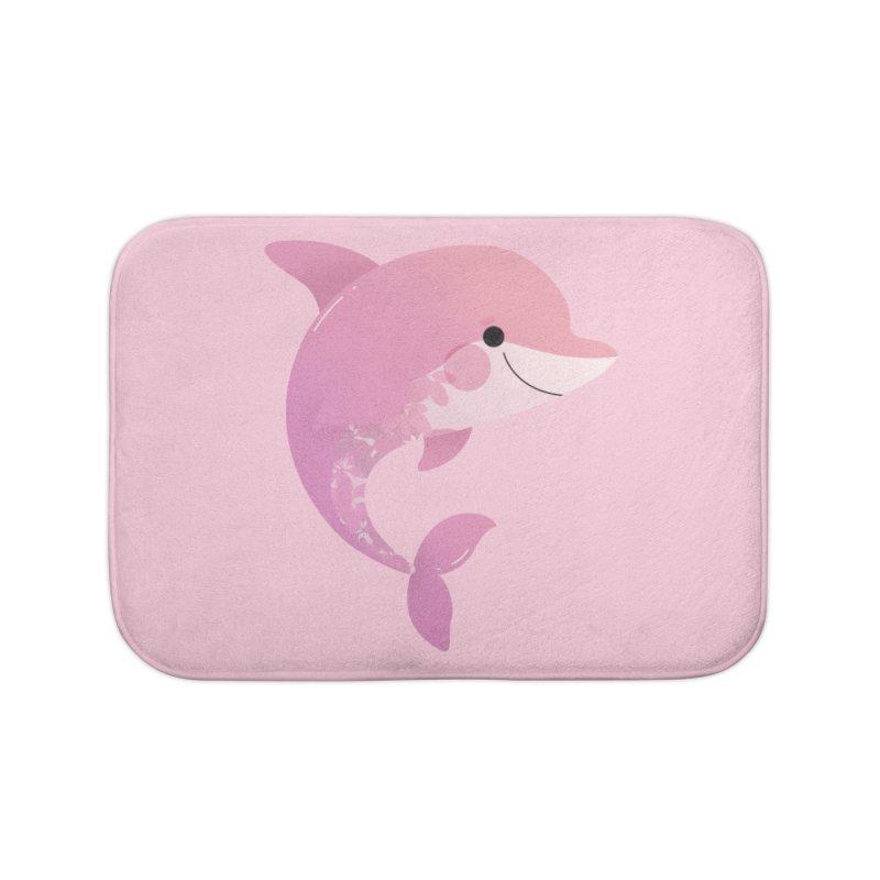 Dolphin Home Bath Mat by theladyernestember's Artist Shop