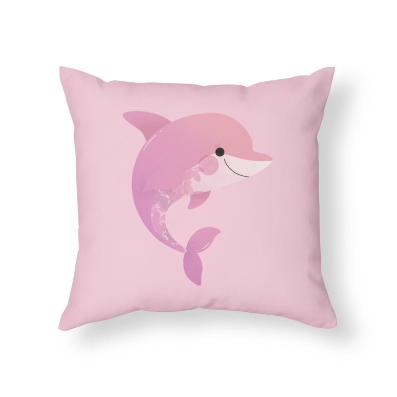 Dolphin Home Throw Pillow by theladyernestember's Artist Shop