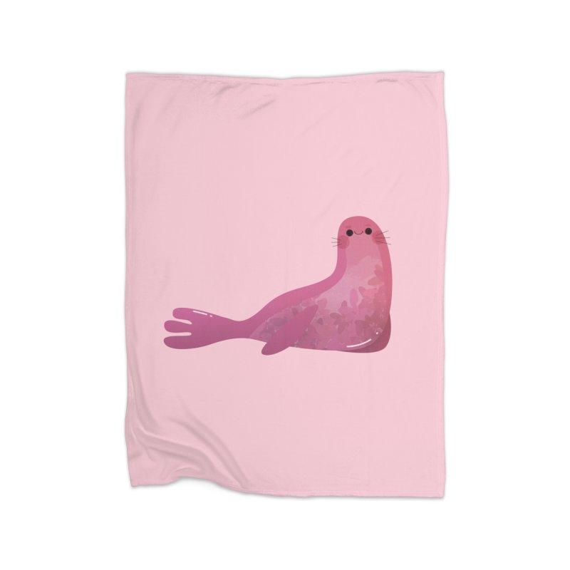 Seal Home Fleece Blanket Blanket by theladyernestember's Artist Shop