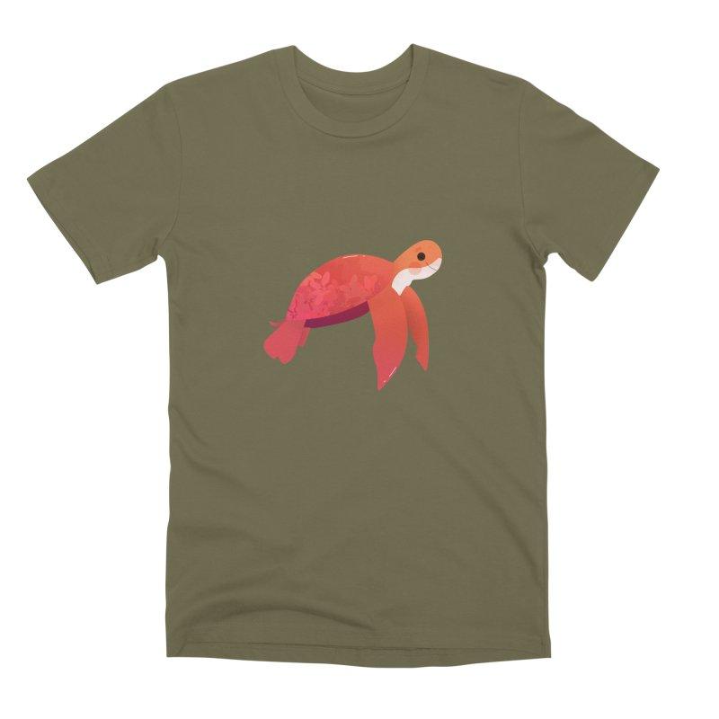 Turtle Men's Premium T-Shirt by theladyernestember's Artist Shop