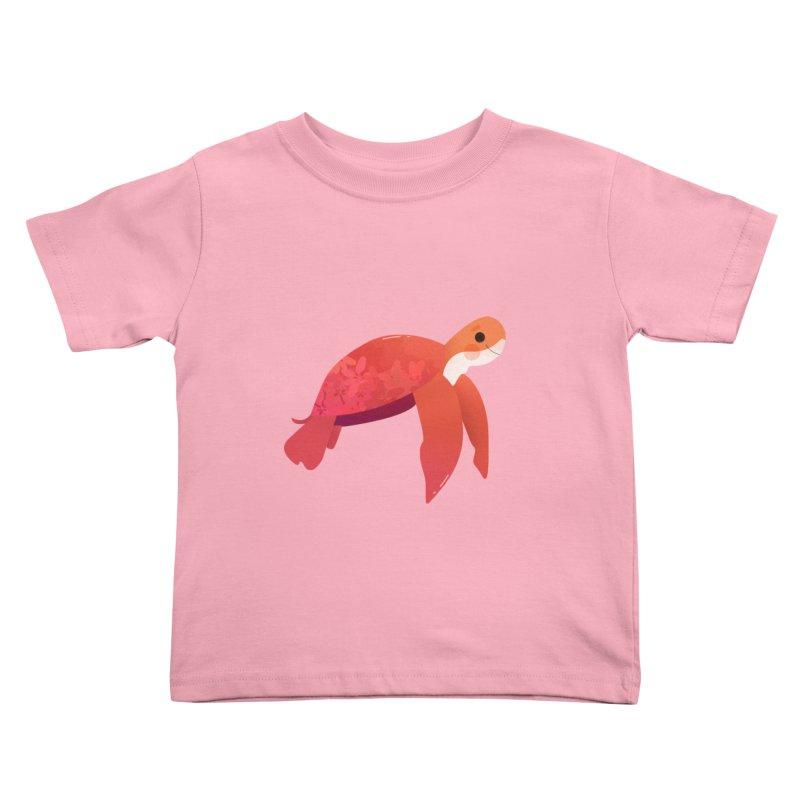 Turtle Kids Toddler T-Shirt by theladyernestember's Artist Shop