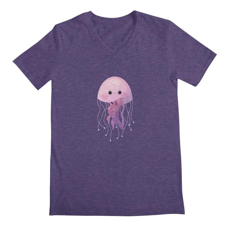 Jellyfish Men's V-Neck by theladyernestember's Artist Shop
