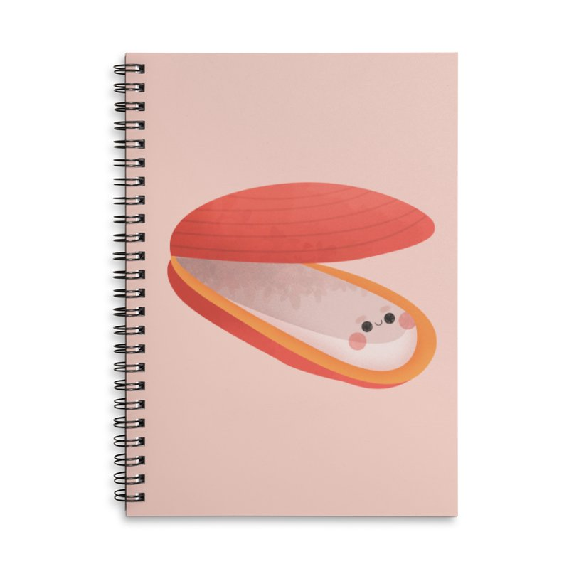 Clam Accessories Notebook by theladyernestember's Artist Shop