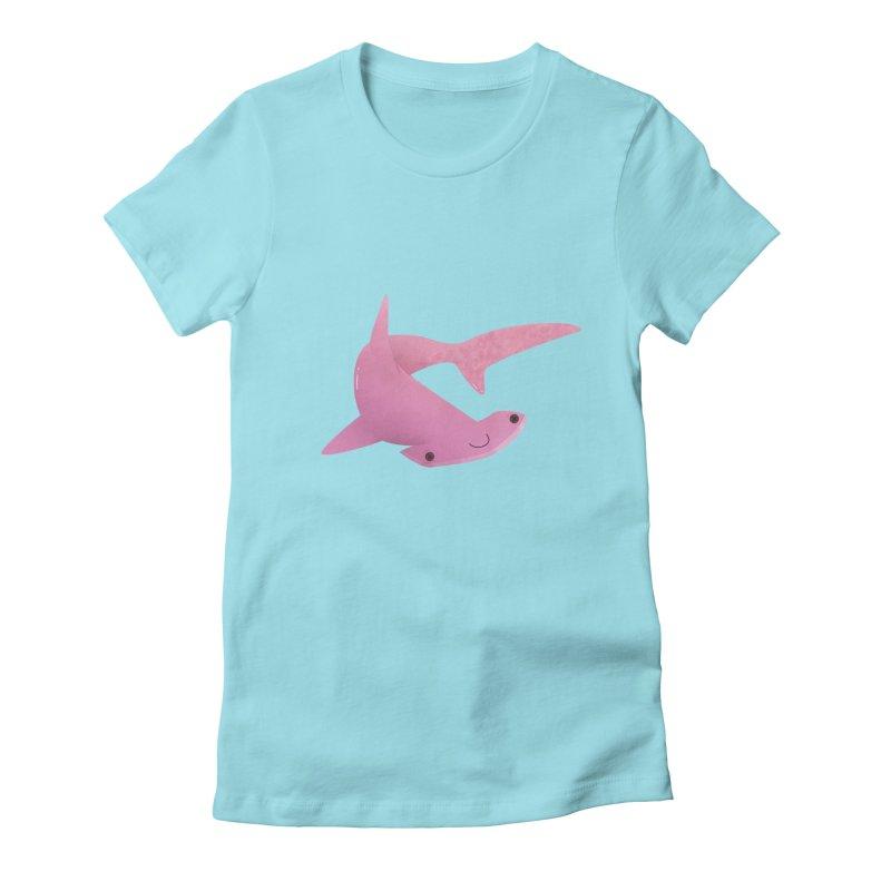 Hammerhead Shark Women's Fitted T-Shirt by theladyernestember's Artist Shop