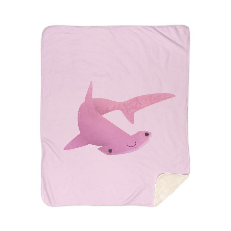 Hammerhead Shark Home Sherpa Blanket Blanket by theladyernestember's Artist Shop