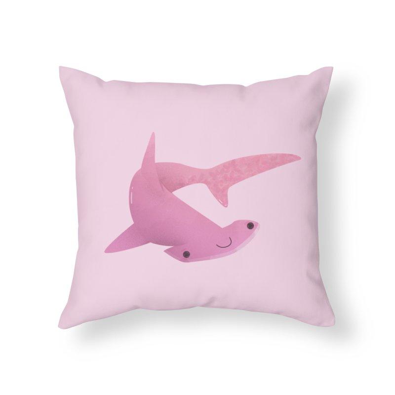 Hammerhead Shark Home Throw Pillow by theladyernestember's Artist Shop