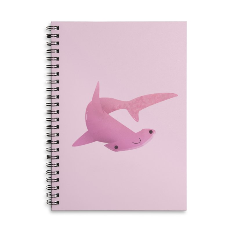 Hammerhead Shark Accessories Lined Spiral Notebook by theladyernestember's Artist Shop