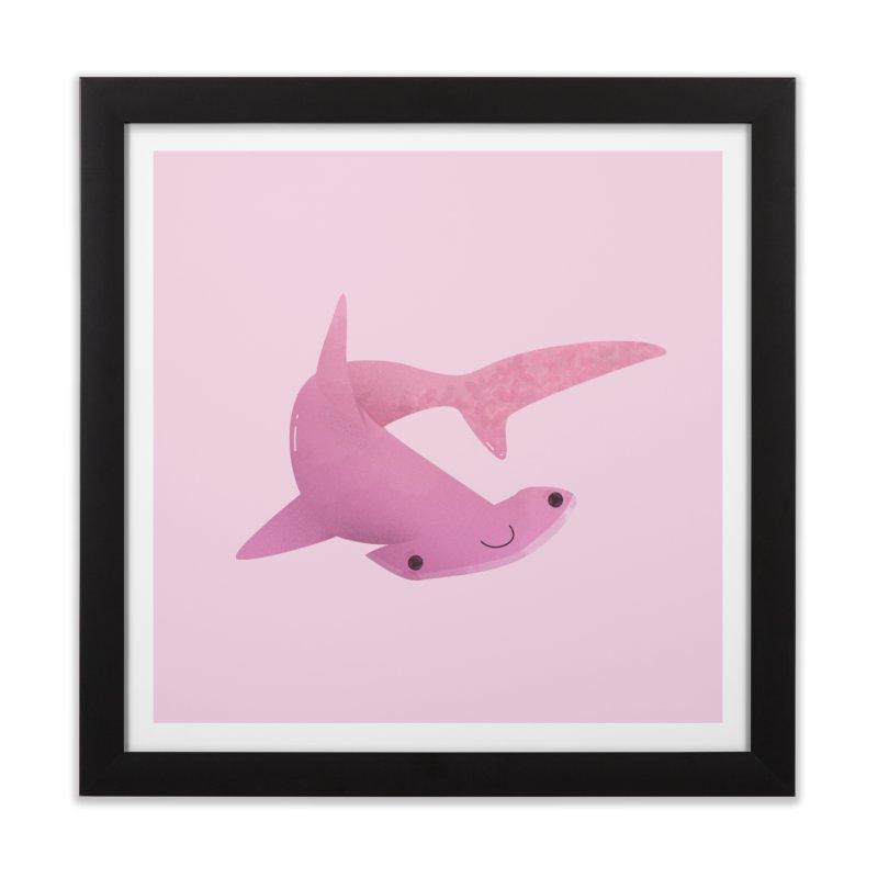 Hammerhead Shark Home Framed Fine Art Print by theladyernestember's Artist Shop