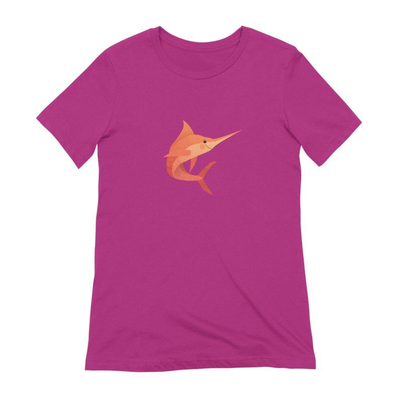 Marlin Women's Extra Soft T-Shirt by theladyernestember's Artist Shop