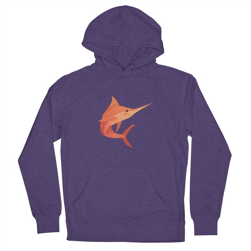 Marlin Women's French Terry Pullover Hoody by theladyernestember's Artist Shop