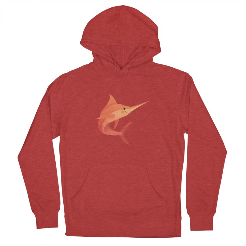 Marlin Men's French Terry Pullover Hoody by theladyernestember's Artist Shop