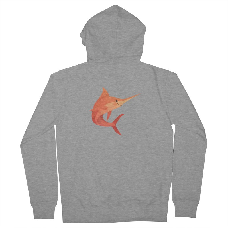 Marlin Women's French Terry Zip-Up Hoody by theladyernestember's Artist Shop