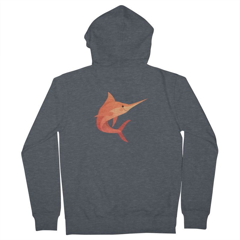 Marlin Men's French Terry Zip-Up Hoody by theladyernestember's Artist Shop