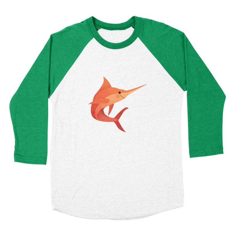 Marlin Women's Baseball Triblend Longsleeve T-Shirt by theladyernestember's Artist Shop