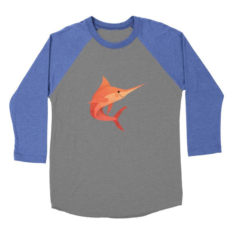 Marlin Men's Baseball Triblend Longsleeve T-Shirt by theladyernestember's Artist Shop