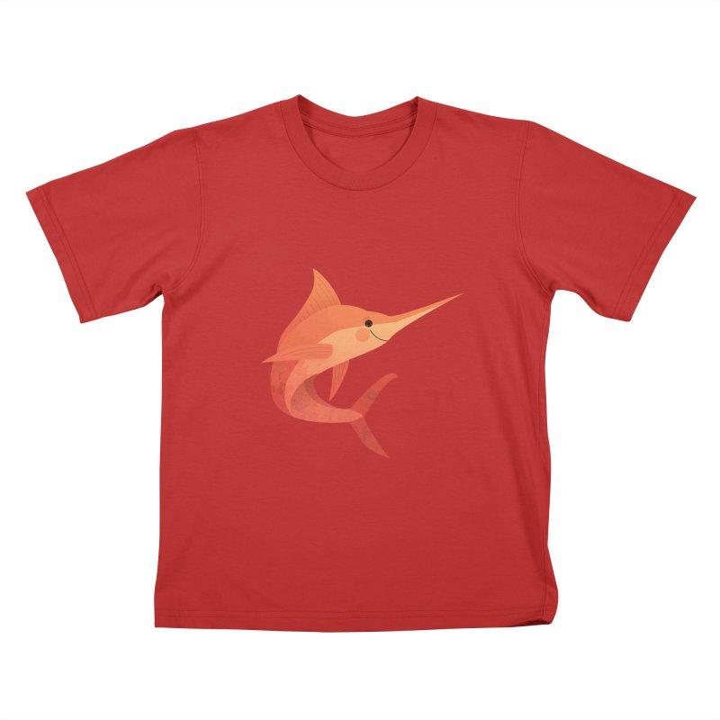 Marlin Kids T-Shirt by theladyernestember's Artist Shop