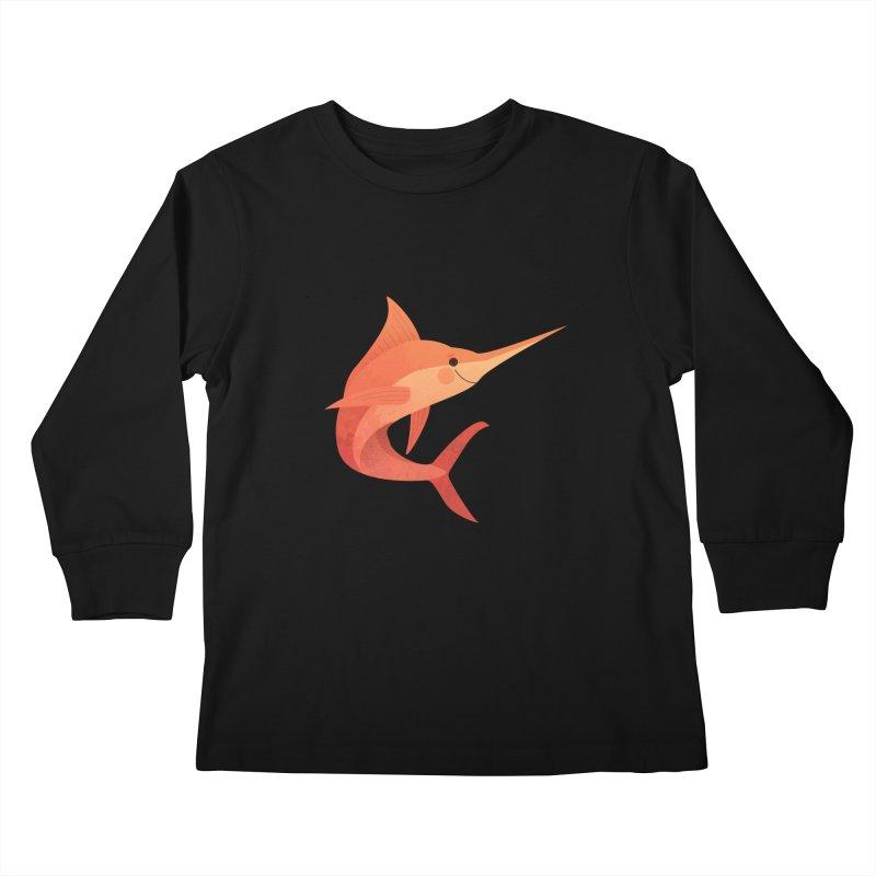 Marlin Kids Longsleeve T-Shirt by theladyernestember's Artist Shop