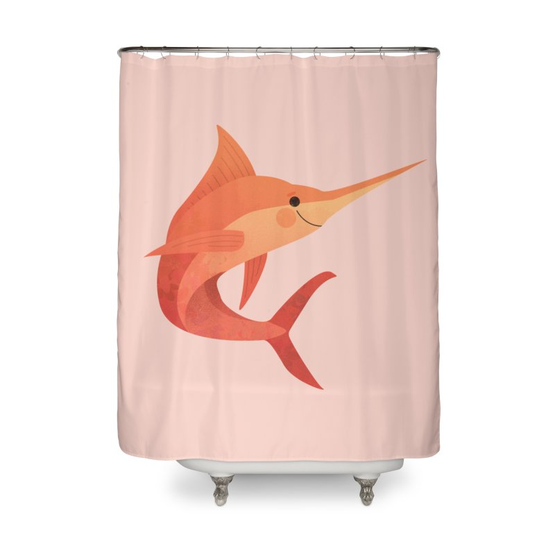 Marlin Home Shower Curtain by theladyernestember's Artist Shop