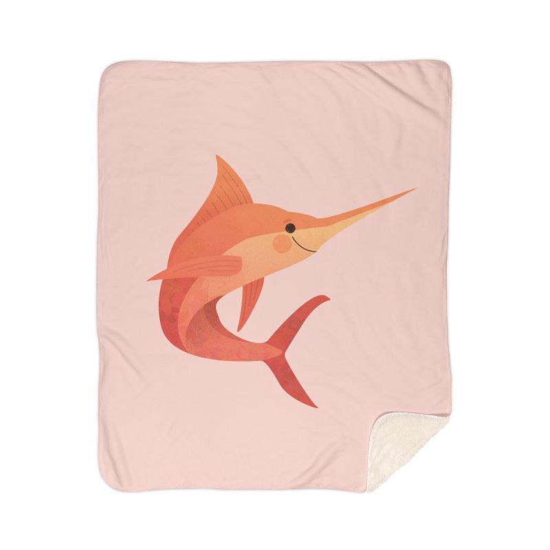 Marlin Home Sherpa Blanket Blanket by theladyernestember's Artist Shop