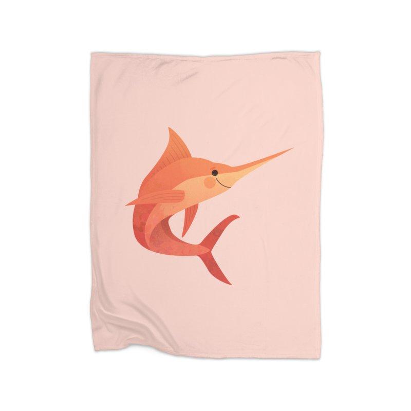 Marlin Home Fleece Blanket Blanket by theladyernestember's Artist Shop