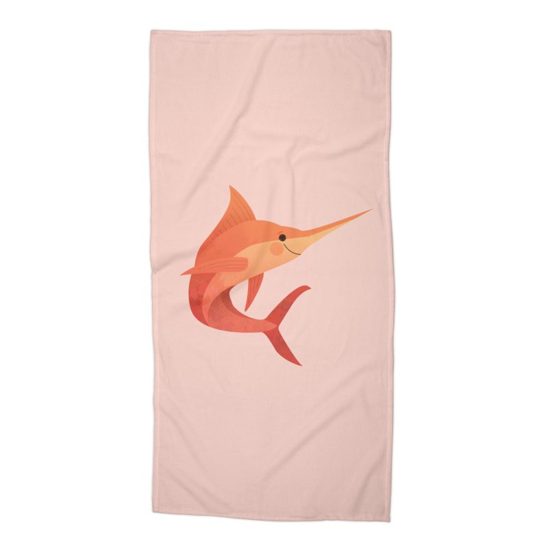 Marlin Accessories Beach Towel by theladyernestember's Artist Shop