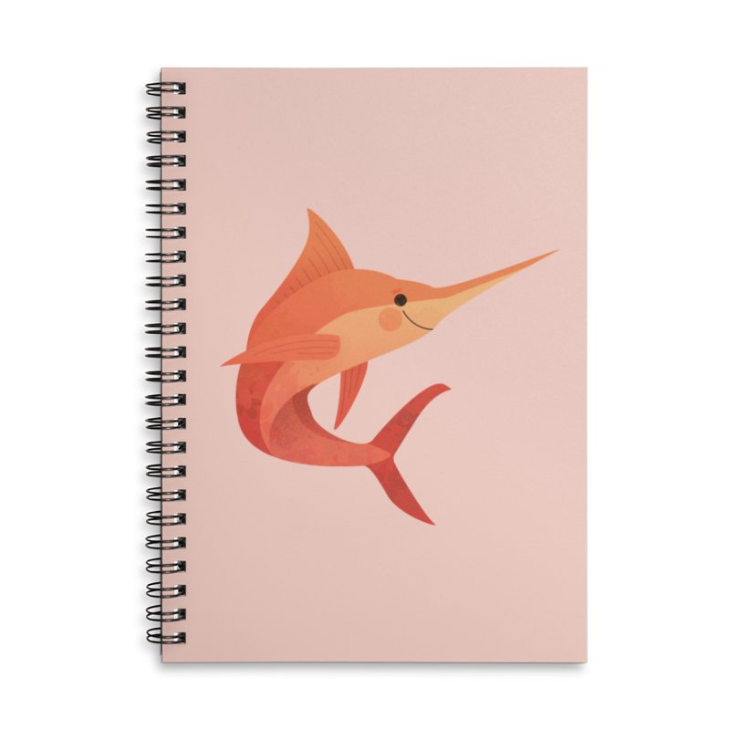 Marlin Accessories Lined Spiral Notebook by theladyernestember's Artist Shop