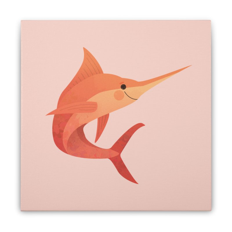 Marlin Home Stretched Canvas by theladyernestember's Artist Shop