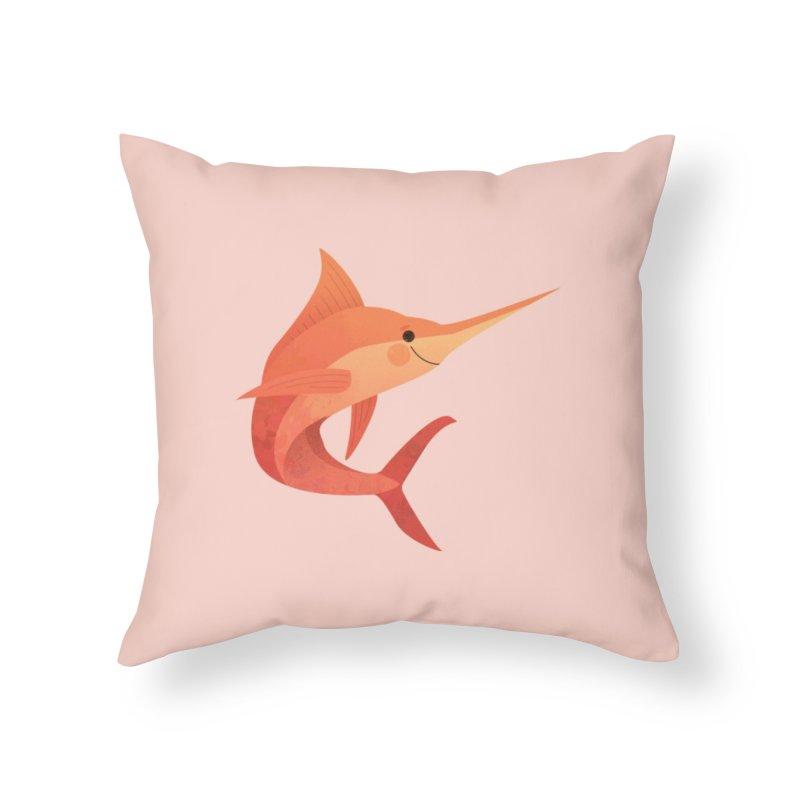 Marlin Home Throw Pillow by theladyernestember's Artist Shop