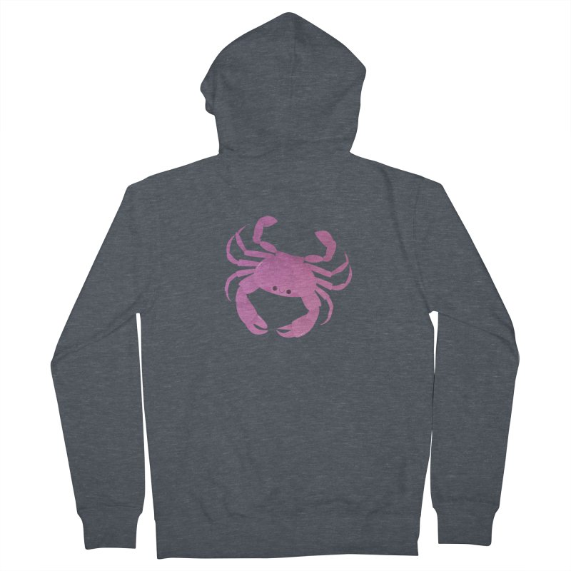 Crab Men's French Terry Zip-Up Hoody by theladyernestember's Artist Shop