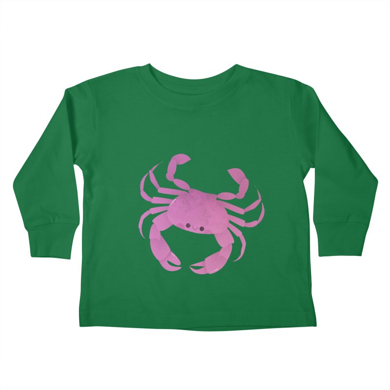 Crab Kids Toddler Longsleeve T-Shirt by theladyernestember's Artist Shop