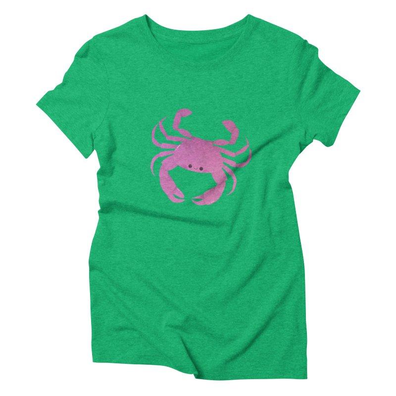 Crab Women's Triblend T-Shirt by theladyernestember's Artist Shop