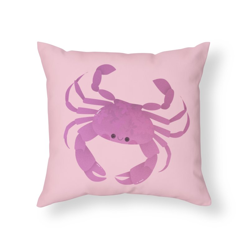 Crab Home Throw Pillow by theladyernestember's Artist Shop