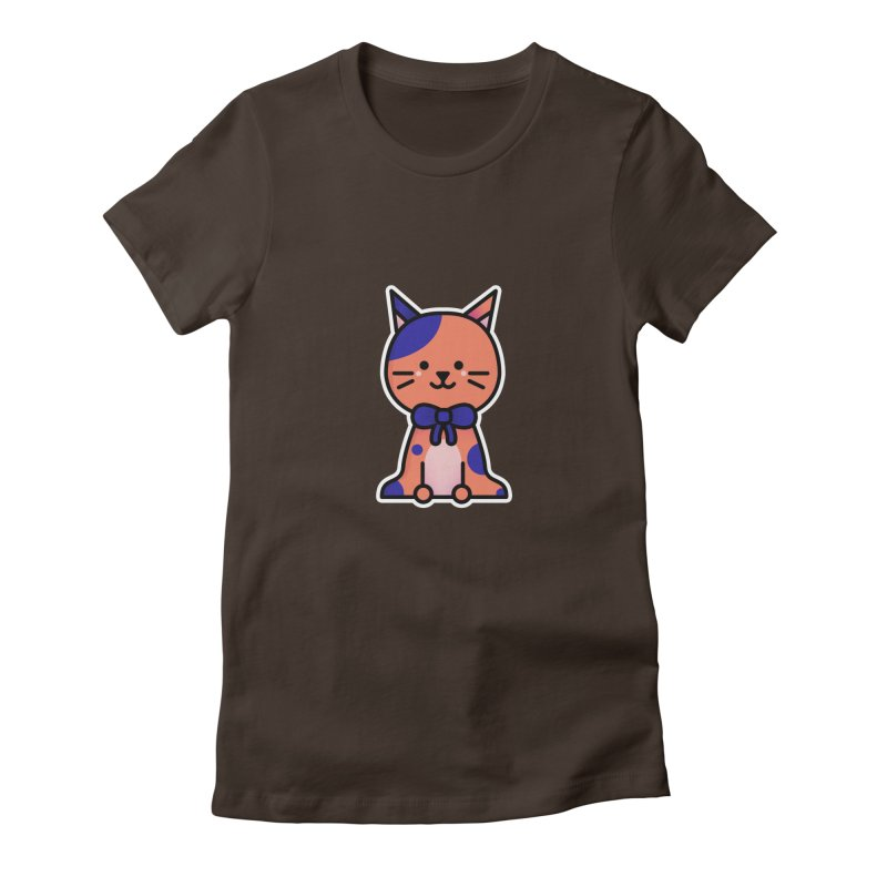 Cat Women's Fitted T-Shirt by theladyernestember's Artist Shop