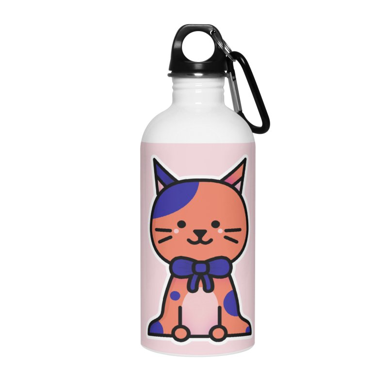 Cat Accessories Water Bottle by theladyernestember's Artist Shop