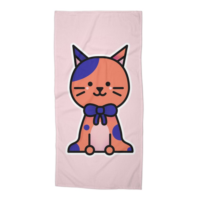 Cat Accessories Beach Towel by theladyernestember's Artist Shop