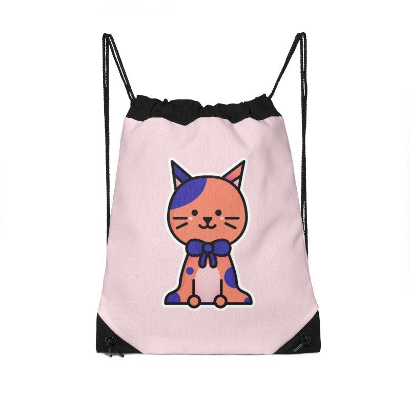 Cat Accessories Drawstring Bag Bag by theladyernestember's Artist Shop
