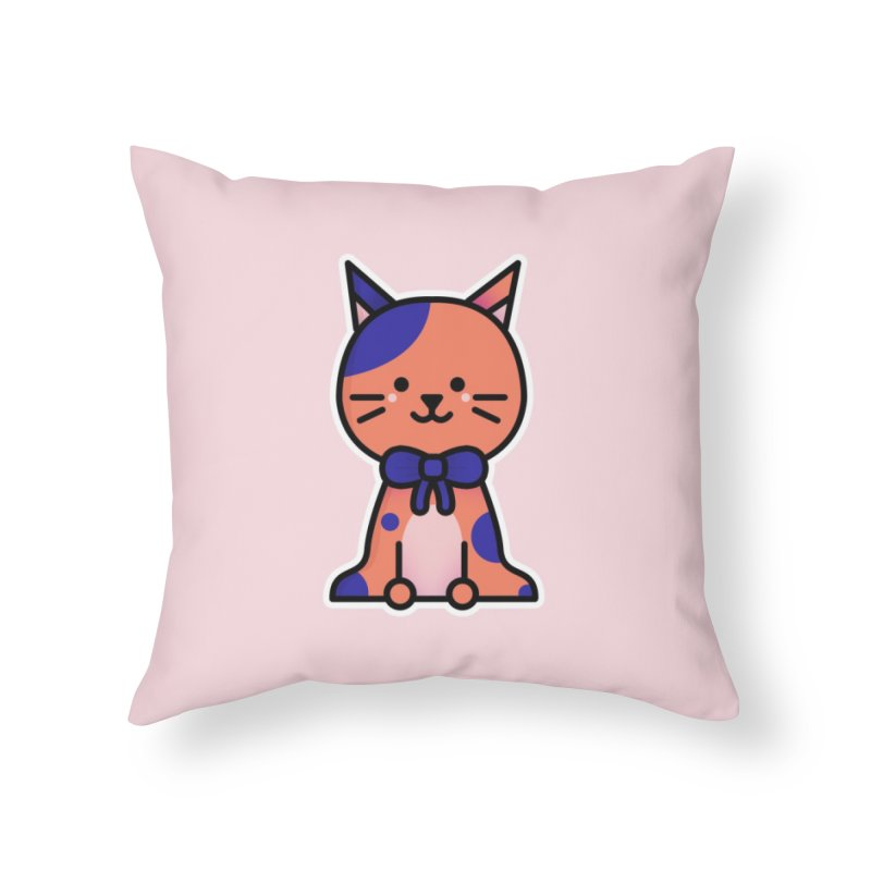 Cat Home Throw Pillow by theladyernestember's Artist Shop