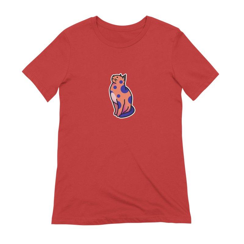 Cute cat Women's Extra Soft T-Shirt by theladyernestember's Artist Shop