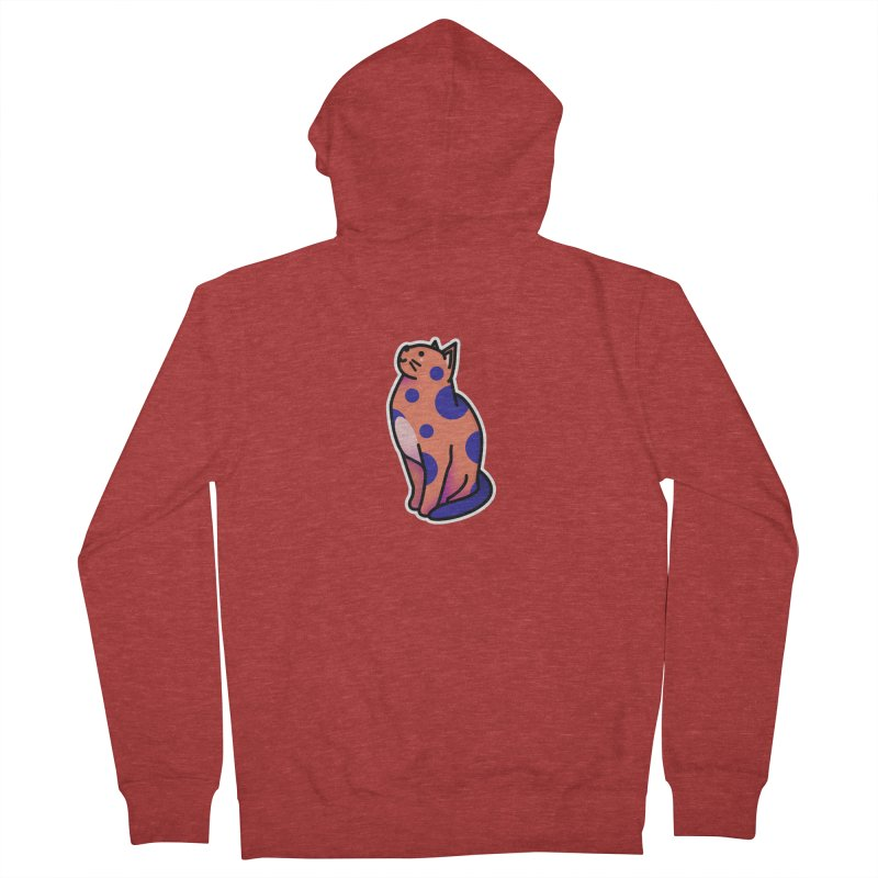 Cute cat Men's French Terry Zip-Up Hoody by theladyernestember's Artist Shop