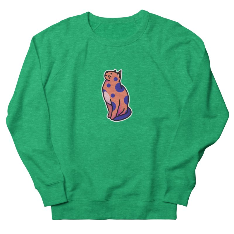 Cute cat Women's French Terry Sweatshirt by theladyernestember's Artist Shop