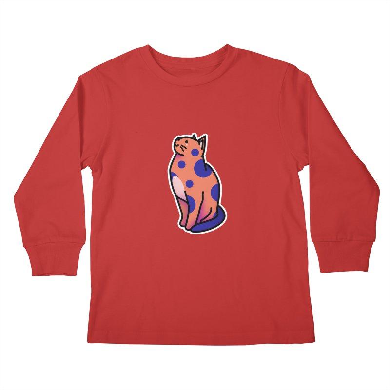 Cute cat Kids Longsleeve T-Shirt by theladyernestember's Artist Shop