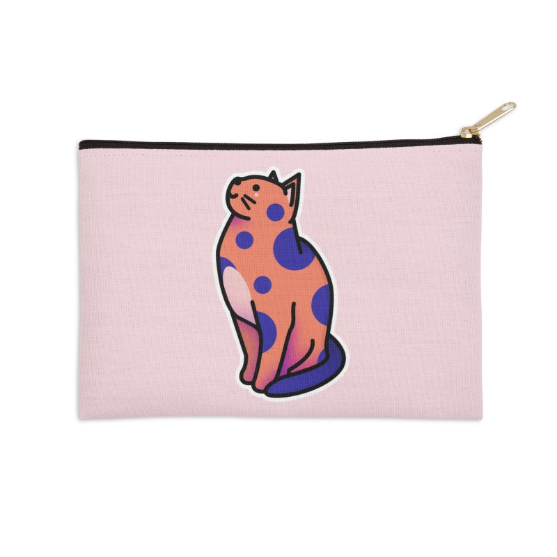 Cute cat Accessories Zip Pouch by theladyernestember's Artist Shop
