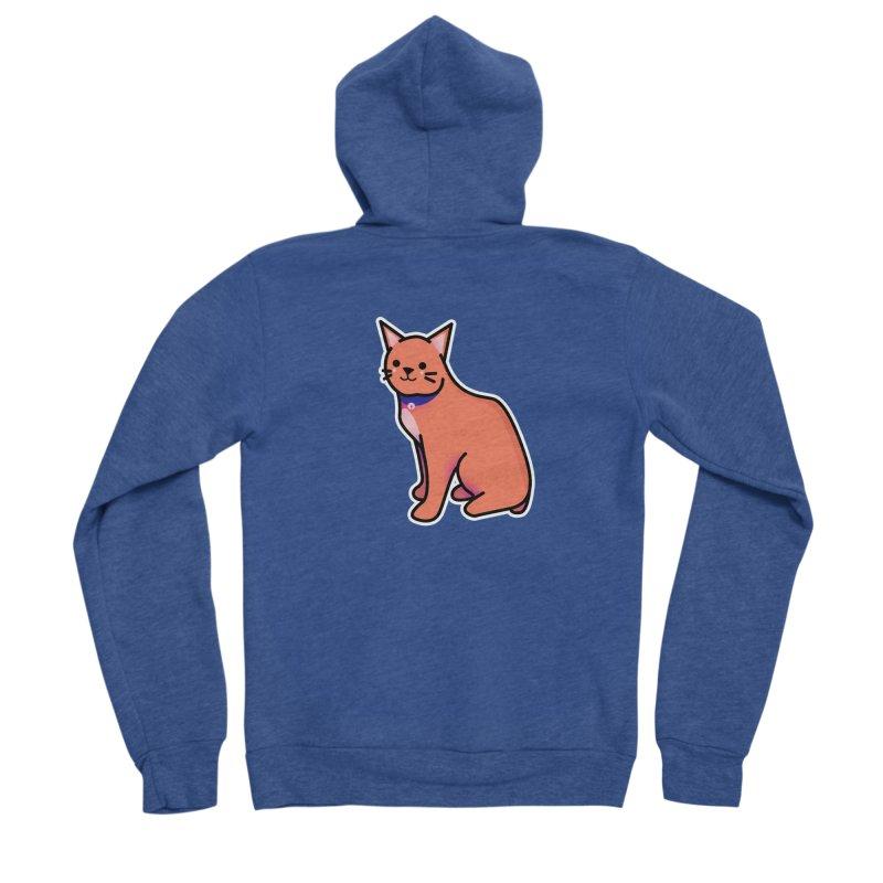 Cat Women's Sponge Fleece Zip-Up Hoody by theladyernestember's Artist Shop
