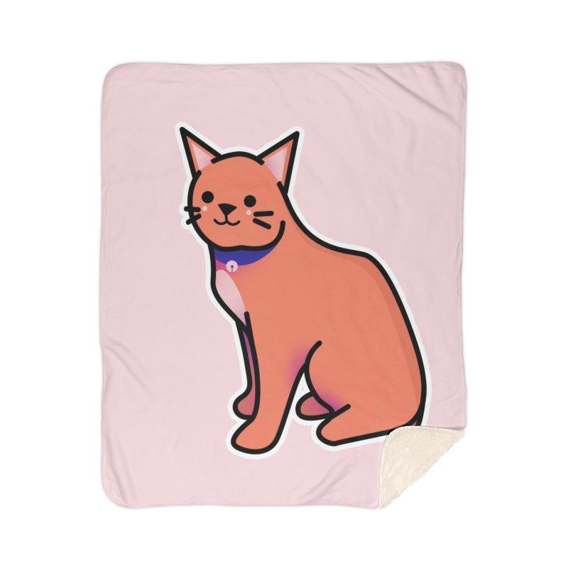 Cat Home Sherpa Blanket Blanket by theladyernestember's Artist Shop