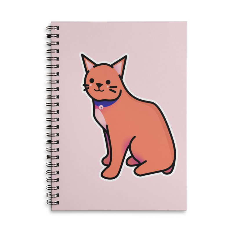 Cat Accessories Lined Spiral Notebook by theladyernestember's Artist Shop